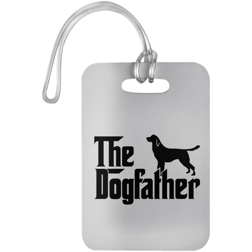 Designs by MyUtopia Shout Out:The Dog Father Luggage Bag Tag,White / One Size,Luggage Tags
