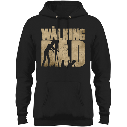 Designs by MyUtopia Shout Out:The Walking Dad Core Fleece Pullover Hoodie,Jet Black / S,Sweatshirts