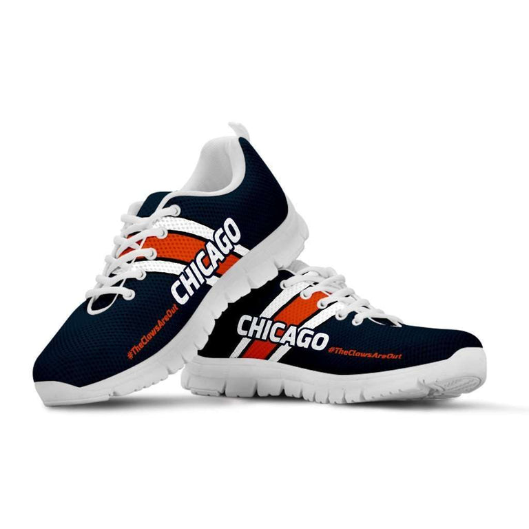 Designs by MyUtopia Shout Out:#TheClawsAreOut Chicago Fan Running Shoes,Kid's / 11 CHILD (EU28) / DarkNavy/Orange,Running Shoes