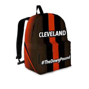 Designs by MyUtopia Shout Out:#TheDawgPound Cleveland Fan Day Pack Backpack