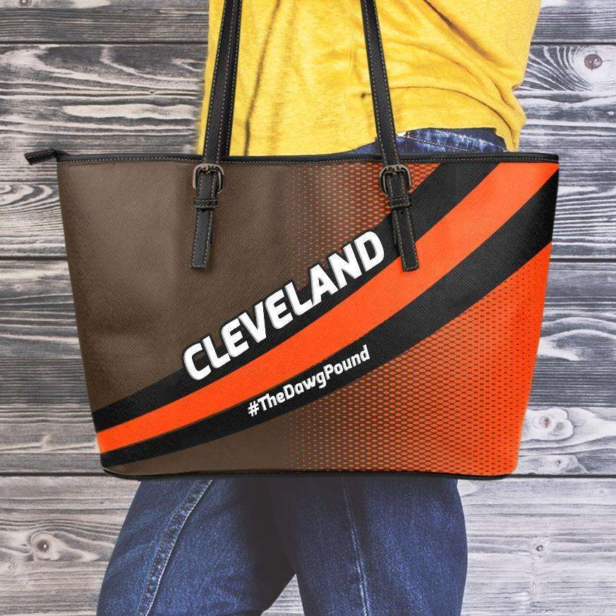 Designs by MyUtopia Shout Out:#TheDawgPound Cleveland Fan Faux Leather Totebag Purse