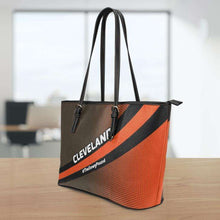 Load image into Gallery viewer, Designs by MyUtopia Shout Out:#TheDawgPound Cleveland Fan Faux Leather Totebag Purse