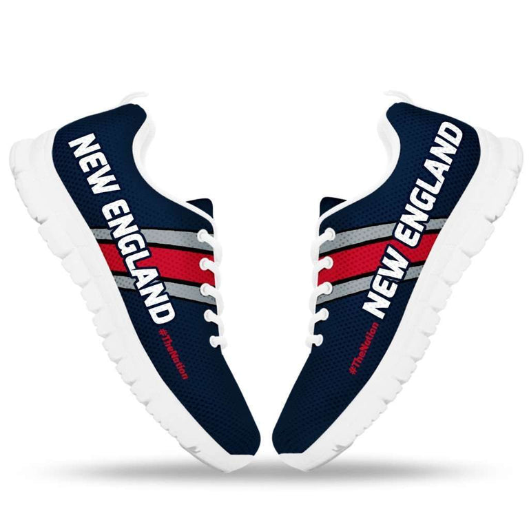 Designs by MyUtopia Shout Out:#TheNation New England Fan Running Shoes