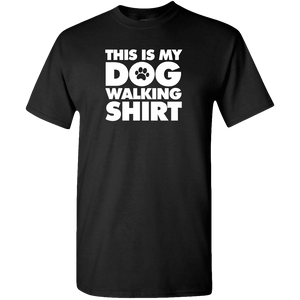 Designs by MyUtopia Shout Out:This is My Dog Walking Shirt Adult Unisex T-Shirt Special Offer,Small / Black,Adult Unisex T-Shirt