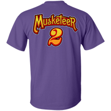 Load image into Gallery viewer, Designs by MyUtopia Shout Out:Three Musketeers #2 Unisex Cotton. T-Shirt