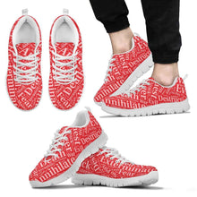 Load image into Gallery viewer, Designs by MyUtopia Shout Out:Timey Wimey Dalek Terms Running Shoes,Mens White Sole / Mens US5 (EU38) / Red,Running Shoes