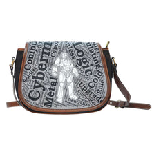Load image into Gallery viewer, Designs by MyUtopia Shout Out:Timey Wimey Doctor Who Fan Canvas Saddlebag Style Crossbody Purse,Cyberman,Cross-Body Purse