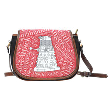 Load image into Gallery viewer, Designs by MyUtopia Shout Out:Timey Wimey Doctor Who Fan Canvas Saddlebag Style Crossbody Purse,Dalek,Cross-Body Purse