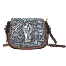 Load image into Gallery viewer, Designs by MyUtopia Shout Out:Timey Wimey Doctor Who Fan Canvas Saddlebag Style Crossbody Purse,Weeping Angel,Cross-Body Purse