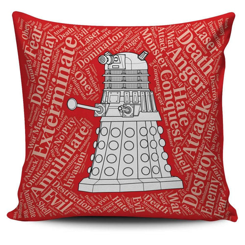 Designs by MyUtopia Shout Out:Timey Wimey Pillowcases,Dalek / Red,Pillowcases