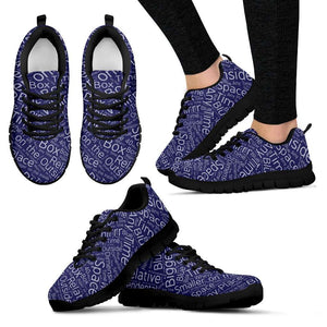 Designs by MyUtopia Shout Out:Timey Wimey TARDIS Terms v3 Running Shoes,Womens Black Sole Sneakers / Womens US5 (EU35) / Blue,Running Shoes