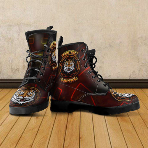Designs by MyUtopia Shout Out:TK-Tiger Imperial Cog Boots,Men's / Mens US5 (EU38) / Multi,Lace-up Boots