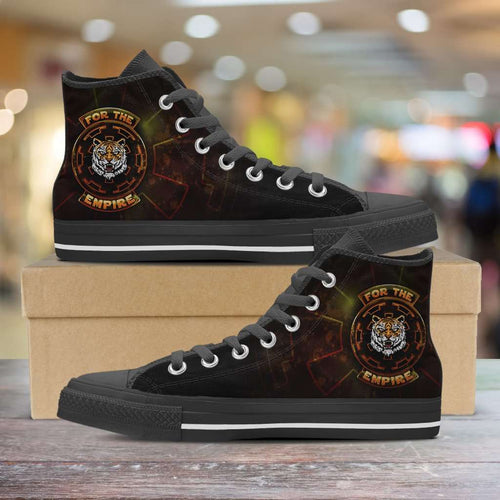 Designs by MyUtopia Shout Out:TK-Tiger Imperial Cog Canvas High Top Shoes