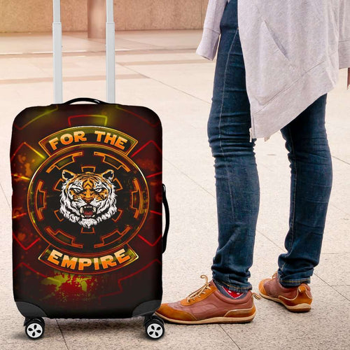 Designs by MyUtopia Shout Out:TK-Tiger Imperial Cog Luggage Covers Black