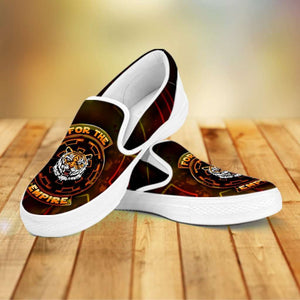 Designs by MyUtopia Shout Out:TK-Tiger Imperial Cog Slip-on Shoes,Men's / Men US8 (EU40) / Multicolor,Slip on sneakers