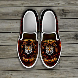 Designs by MyUtopia Shout Out:TK-Tiger Imperial Cog Slip-on Shoes