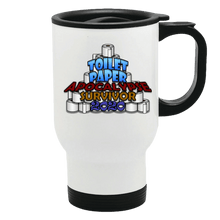 Load image into Gallery viewer, Designs by MyUtopia Shout Out:Toilet Paper Apocalypse Survivor 2020 Stainless Steel Travel Mug,White / 14 oz,Travel Mug