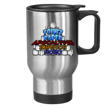 Load image into Gallery viewer, Designs by MyUtopia Shout Out:Toilet Paper Apocalypse Survivor 2020 Stainless Steel Travel Mug,Stainless / 14 oz,Travel Mug