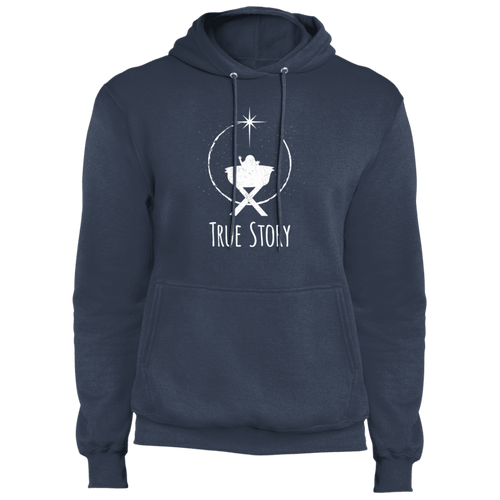 Designs by MyUtopia Shout Out:True Story - Core Fleece Unisex Pullover Hoodie,Navy / S,Sweatshirts
