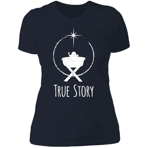 Designs by MyUtopia Shout Out:True Story - Ultra Cotton Ladies' T-Shirt,Midnight Navy / X-Small,Ladies T-Shirts