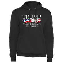 Load image into Gallery viewer, Designs by MyUtopia Shout Out:Trump 2020 Make Liberals Cry Again Core Fleece Pullover Hoodie,S / Jet Black,Pullover Hoodie