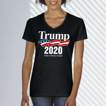 Load image into Gallery viewer, Designs by MyUtopia Shout Out:Trump 2020 Make Liberals Cry Again Ladies' V-Neck T-Shirt