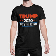 Load image into Gallery viewer, Designs by MyUtopia Shout Out:Trump 2020 Screw Your Feelings Political Humor Unisex Jersey Short-Sleeve T-Shirt