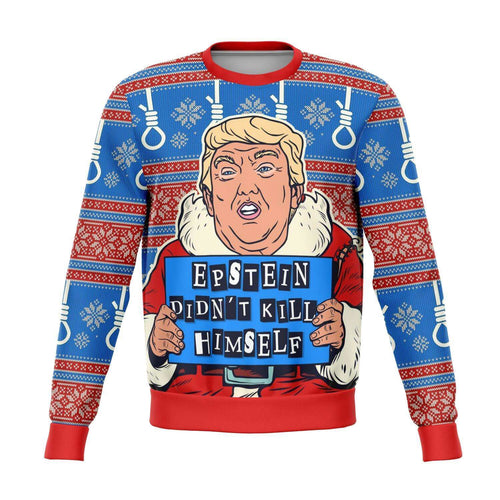 Designs by MyUtopia Shout Out:Trump Humor Funny Christmas Sweater - Premium Unisex Fashion Sweatshirt,XS / Multi,Fashion Sweatshirt - AOP