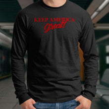 Load image into Gallery viewer, Designs by MyUtopia Shout Out:Trump Keep America Great Long Sleeve Ultra Cotton T-Shirt