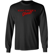 Load image into Gallery viewer, Designs by MyUtopia Shout Out:Trump Keep America Great Long Sleeve Ultra Cotton T-Shirt,S / Black,Long Sleeve T-Shirts