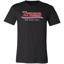 Load image into Gallery viewer, Designs by MyUtopia Shout Out:Trump Keep America Great v2 Unisex Jersey Short-Sleeve T-Shirt,X-Small / Black,Adult Unisex T-Shirt