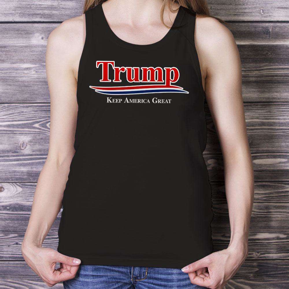 Designs by MyUtopia Shout Out:Trump Keep America Great v2 Unisex Tank
