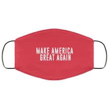 Load image into Gallery viewer, Designs by MyUtopia Shout Out:Trump Make America Great Again Adult Fabric Face Mask with Elastic Ear Loops,3 Layer Fabric Face Mask / Red / Adult,Fabric Face Mask