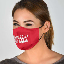 Load image into Gallery viewer, Designs by MyUtopia Shout Out:Trump Make America Great Again Adult Fabric Face Mask with Elastic Ear Loops