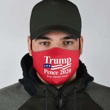 Load image into Gallery viewer, Designs by MyUtopia Shout Out:Trump Pence 2020 Adult Fabric Face Mask with Elastic Ear Loops