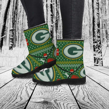 Load image into Gallery viewer, Designs by MyUtopia Shout Out:Ugly Christmas Style Faux Fur Boots GBPUCS