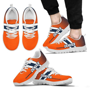 Designs by MyUtopia Shout Out:#UnitedInOrange Denver Fan Running Shoes v2