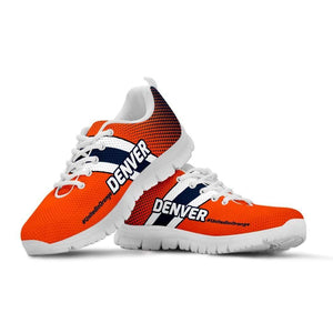 Designs by MyUtopia Shout Out:#UnitedInOrange Denver Fan Running Shoes v2,Kid's / 11 CHILD (EU28) / Orange/Brown,Running Shoes