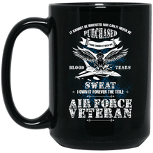 Load image into Gallery viewer, Designs by MyUtopia Shout Out:US Air Force Veteran Ceramic Coffee Mug - Black,15 oz / Black,Ceramic Coffee Mug
