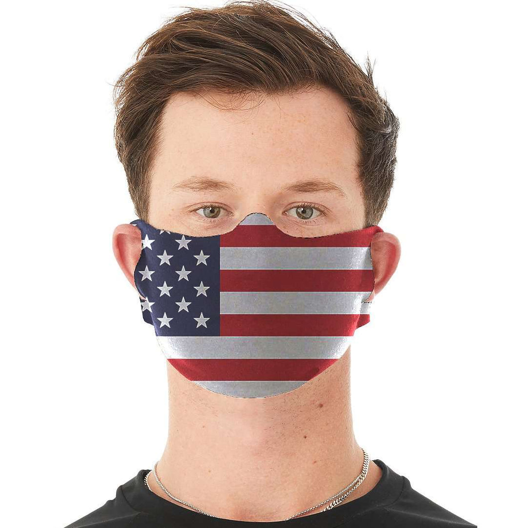 Designs by MyUtopia Shout Out:US Flag Fabric Face Covering / Face Mask,Default Title,Fabric Face Mask