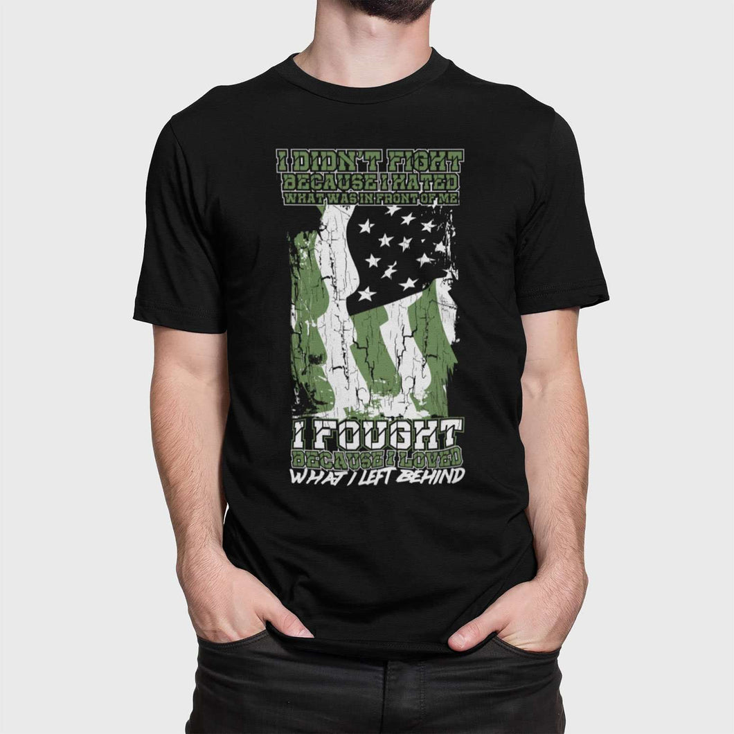 Designs by MyUtopia Shout Out:US Veteran Why We Fought Adult Unisex T-Shirt