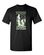 Load image into Gallery viewer, Designs by MyUtopia Shout Out:US Veteran Why We Fought Adult Unisex T-Shirt,S / Black,Adult Unisex T-Shirt