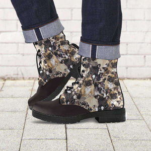 Designs by MyUtopia Shout Out:Vegan Leather Boots - French Bulldogs