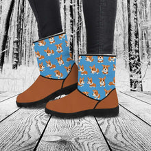 Load image into Gallery viewer, Designs by MyUtopia Shout Out:Vegan Suede / Fur Boots - Corgies