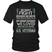 Load image into Gallery viewer, Designs by MyUtopia Shout Out:Veterans Don't Fight for Hate They Fight for Love Unisex T-Shirt,District Unisex Shirt / Black / S,Adult Unisex T-Shirt