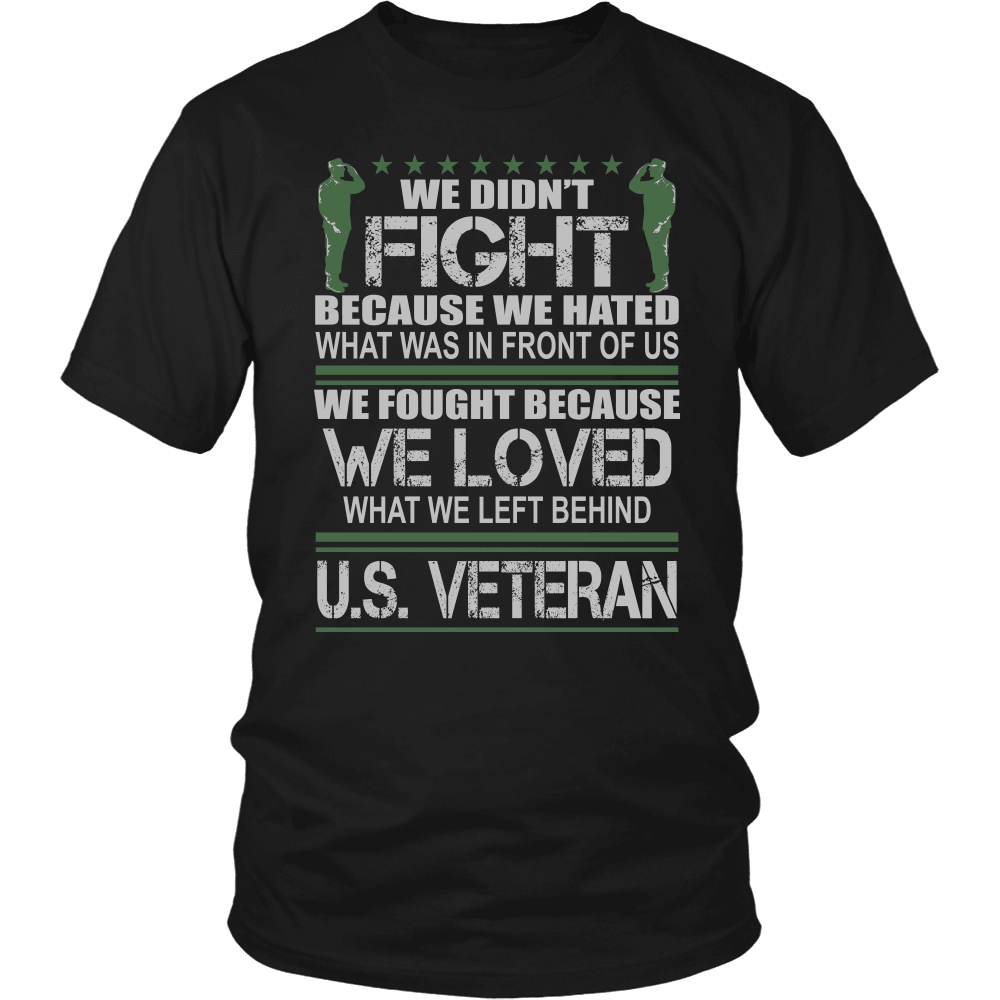 Designs by MyUtopia Shout Out:Veterans Don't Fight for Hate They Fight for Love Unisex T-Shirt,District Unisex Shirt / Black / S,Adult Unisex T-Shirt