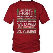 Load image into Gallery viewer, Designs by MyUtopia Shout Out:Veterans Don't Fight for Hate They Fight for Love Unisex T-Shirt,District Unisex Shirt / Red / S,Adult Unisex T-Shirt