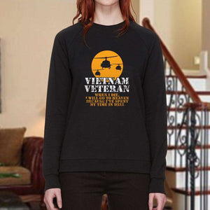 Designs by MyUtopia Shout Out:Vietnam Veteran, Going to Heaven, Already been in Hell Long Sleeve Ultra Cotton Unisex T-Shirt