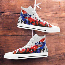 Load image into Gallery viewer, Designs by MyUtopia Shout Out:Washington Veteran Canvas High Top Shoes