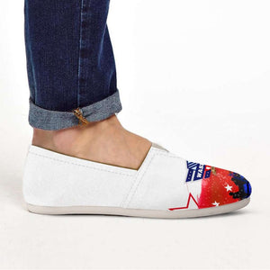 Designs by MyUtopia Shout Out:Washington Veteran Casual Canvas Slip on Shoes Women's Flats